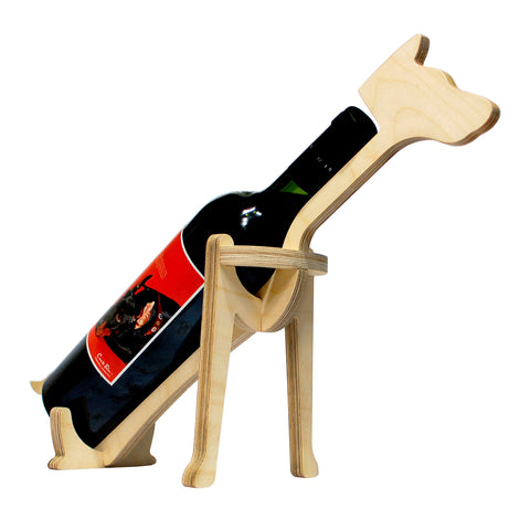 Animal Bones Wooden Bottle Holder - Dog