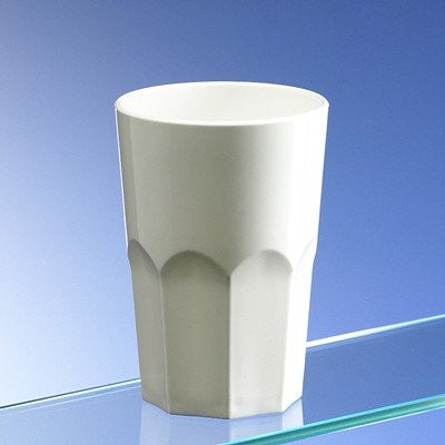 Large 2 Pint Plastic Glass - White (Set of 2)