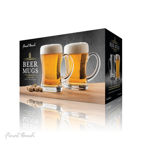 Final Touch Mouth Blown Beer Mugs