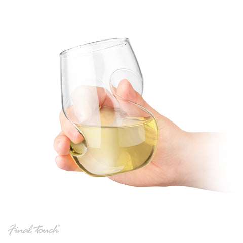 Final Touch Conundrum White Wine Glasses