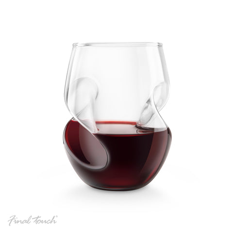 Final Touch Conundrum Red Wine Glasses