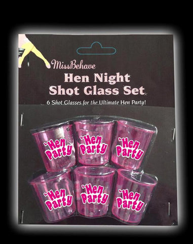 Hen Night Shot Glasses - 6 Pack