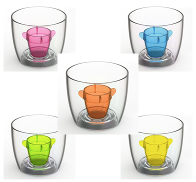 Deluxe Bomber Cup Mixed Colours - Pack of 50 to 250 (ex VAT)