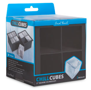 Giant Ice Cube Tray - 2 Inch Square Ice Cubes