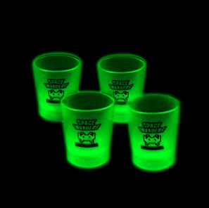 Space Invaders Official Glow In The Dark Shot Glasses