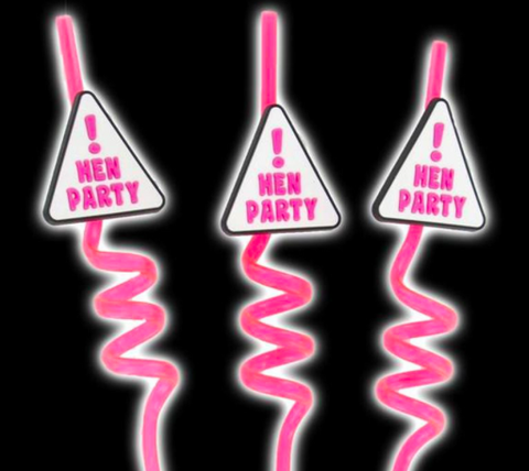 Hen Night Party Straws 3 Pack