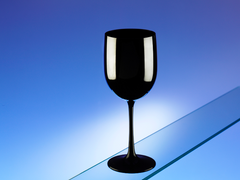 Premium Italian Designed Polycarbonate LARGE Black Wine Glasses 17oz/485ml x 4