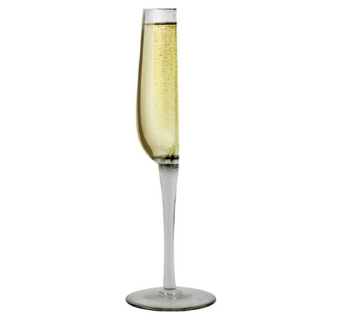 Happy Half Champagne Glass
