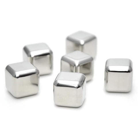 Stainless Steel Ice Cubes - 6 Pack