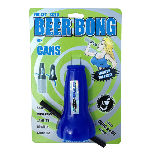 Beer Can Bong - Blue