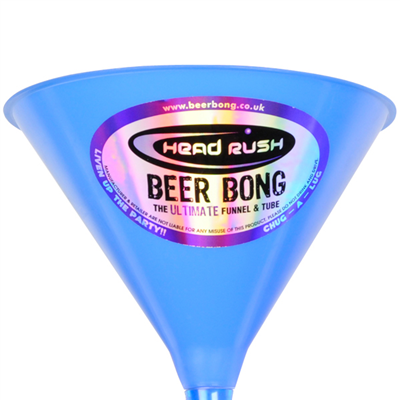 Limited Edition Ultimate Beer Bong - Blue Top, Grey Tube