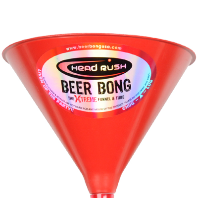 Limited Edition Ultimate Beer Bong - Red Top, Black Tube