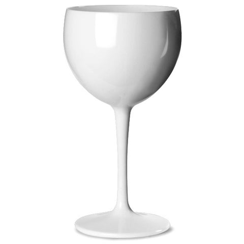 Premium Italian Designed White  Polycarbonate Gin Glass x 4