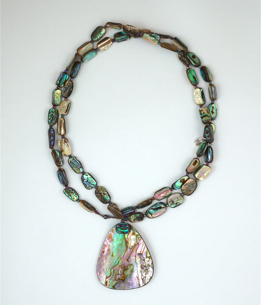 Paua-Abalone Shell Nuggets Necklace - Inspired Luxe