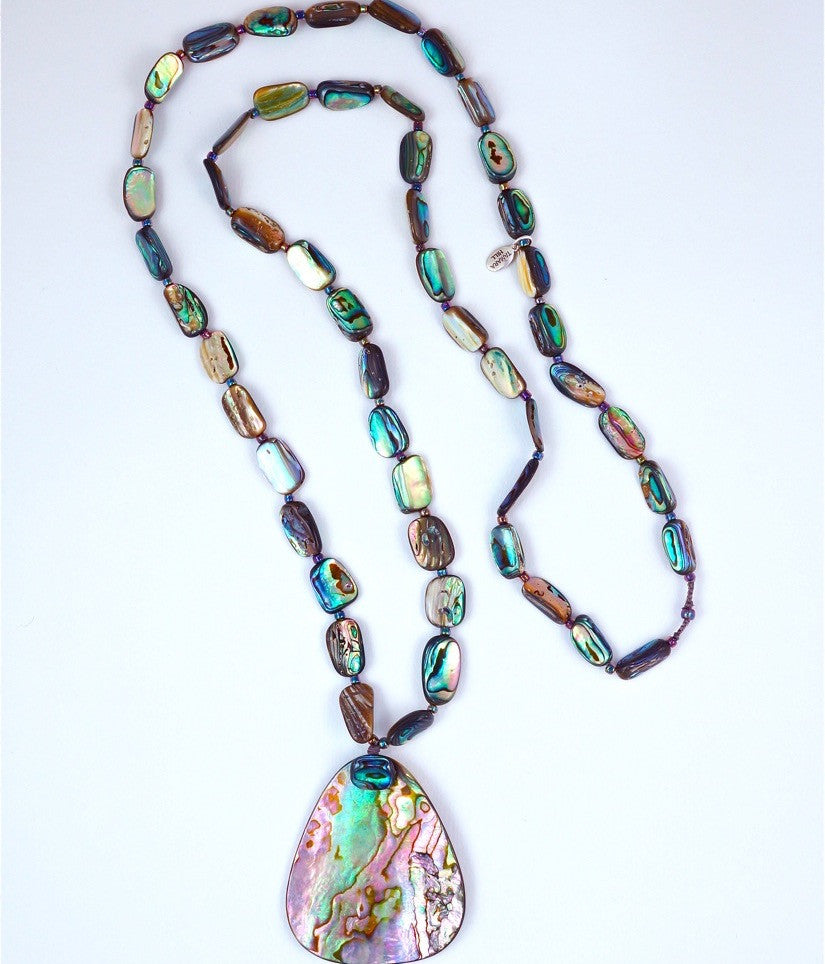 Paua-Abalone Shell Nuggets Necklace