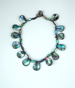 Paua-Abalone Shell Fan Shaped Collar - Inspired Luxe