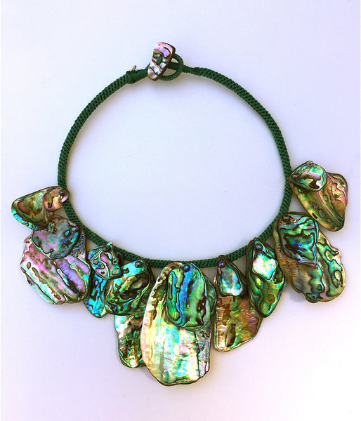 Paua-Abalone Shell Fan Collar