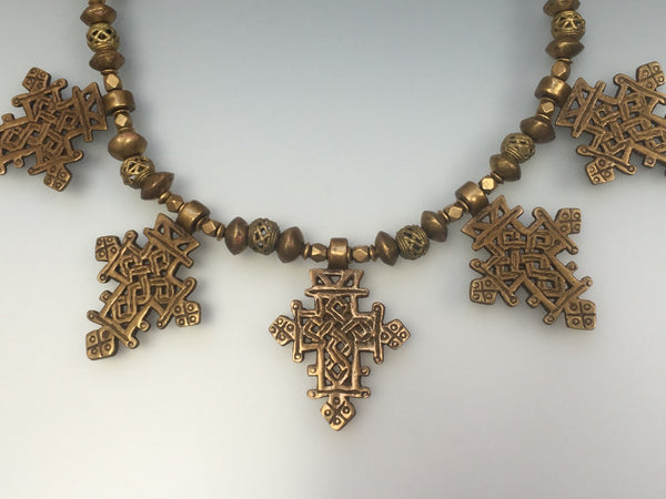 Brass Coptic Crosses - Inspired Luxe