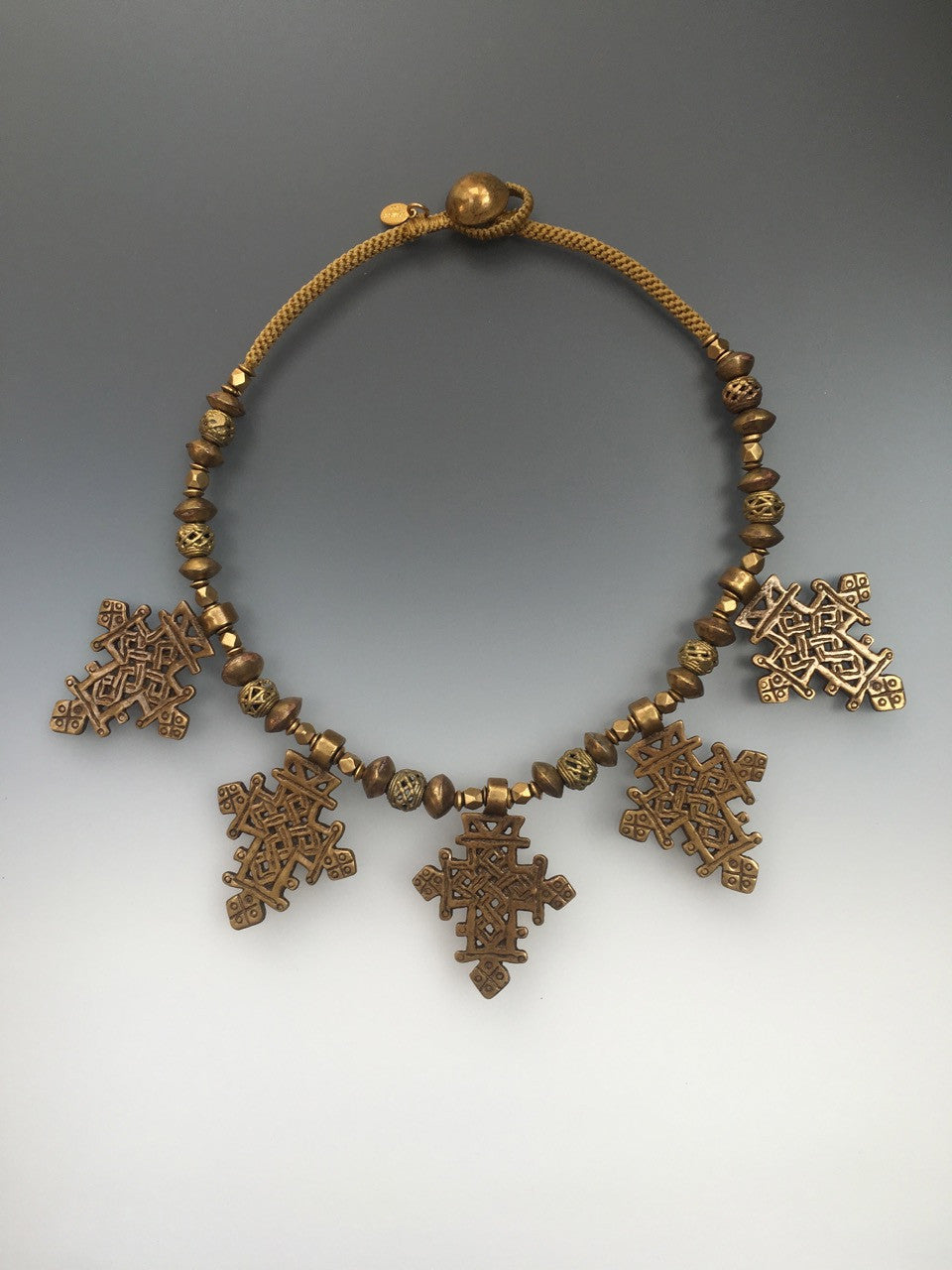 Vintage One-of-a-Kind Coptic Cross Necklace - Inspired Luxe