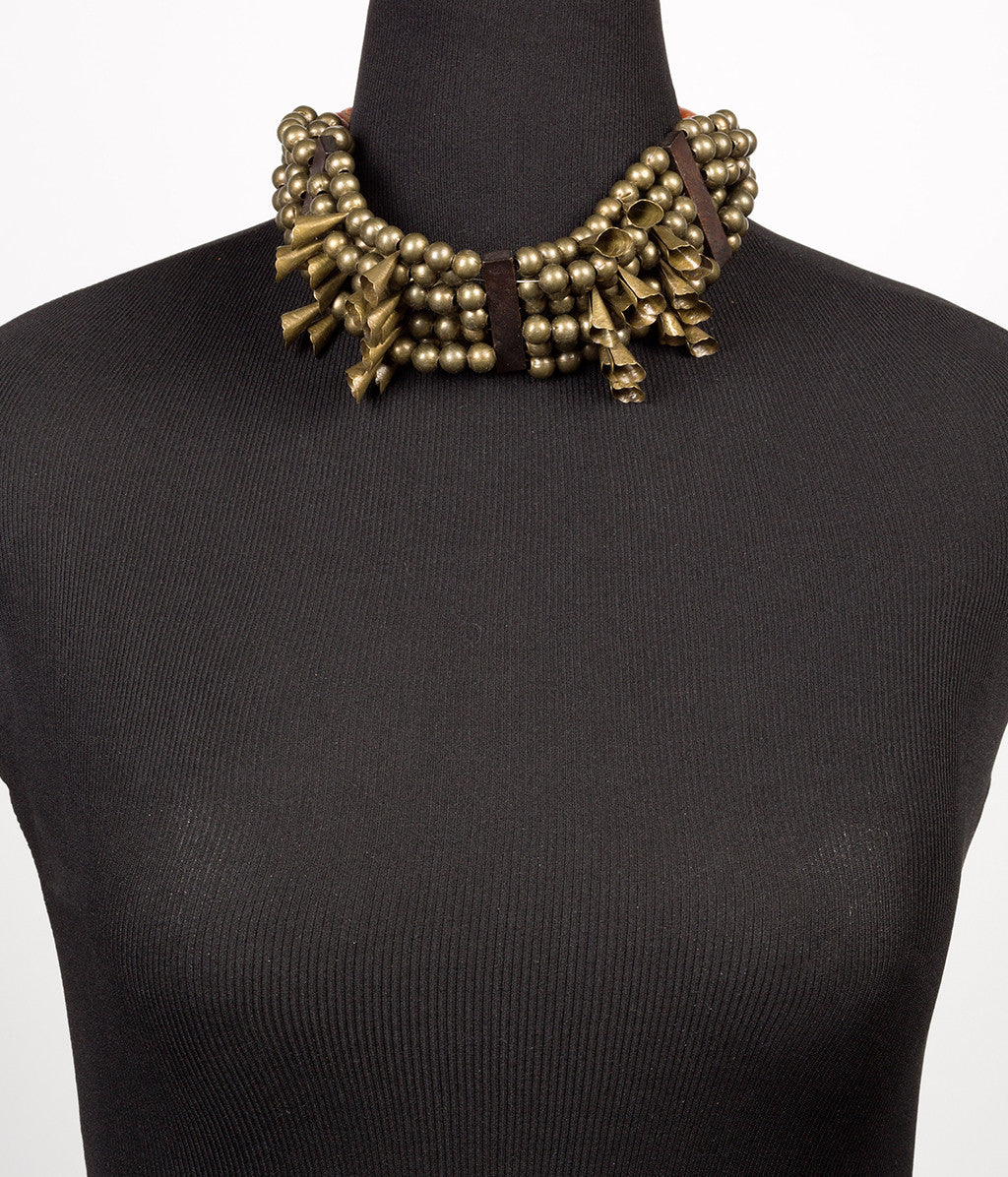 Choker Brass Necklace - Inspired Luxe