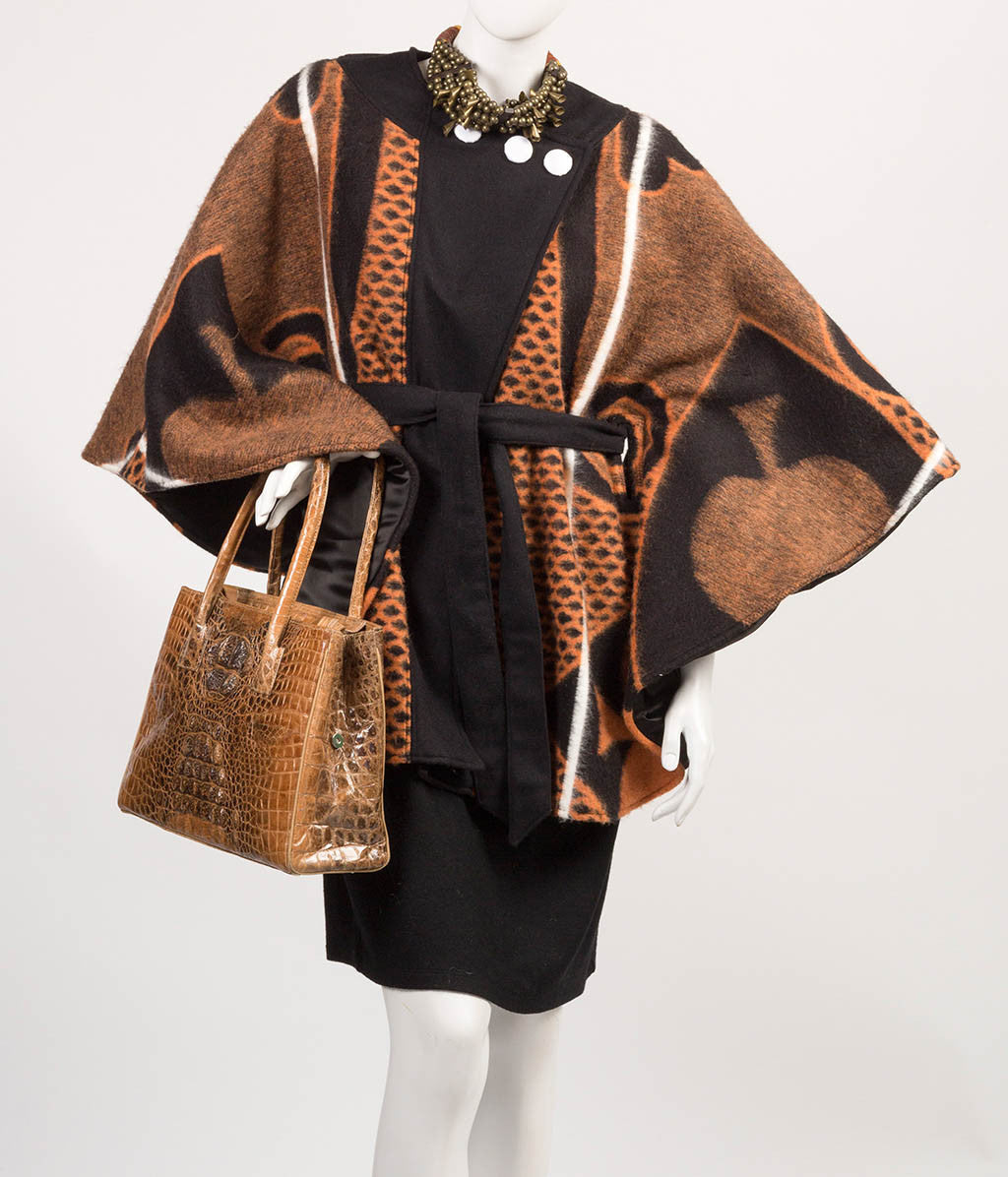 Kobo Ea Bohali Cape Coat (Brown) - Inspired Luxe