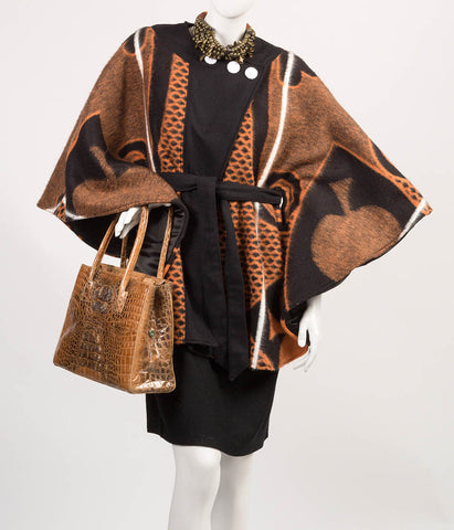Kobo Ea Bohali Cape Coat (Brown) - SALE