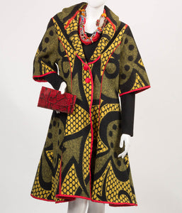 Kobo Ea Bohali Coat - Full Length  (Yellow) - SOLD - Inspired Luxe