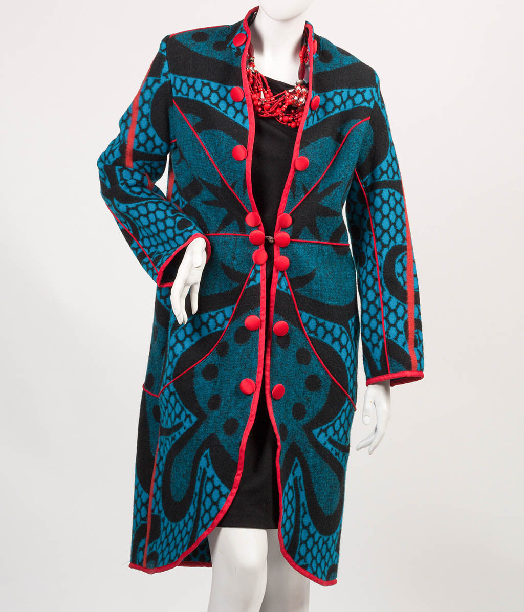 Kobo Ea Bohali Coat - Full Length (Blue) - Inspired Luxe