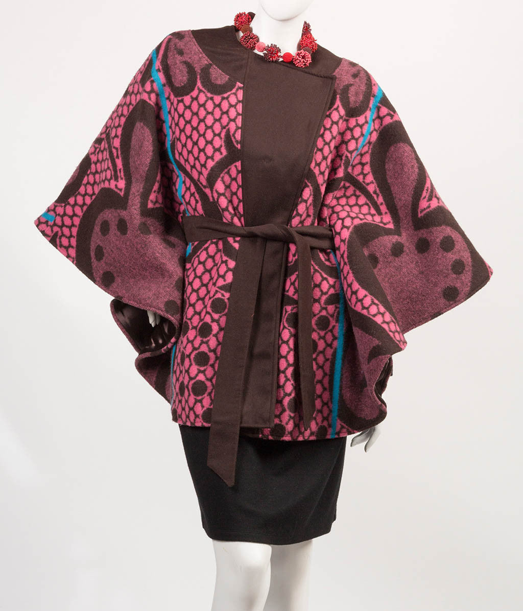 Kobo Ea Bohali Cape Coat (Rose) - Inspired Luxe