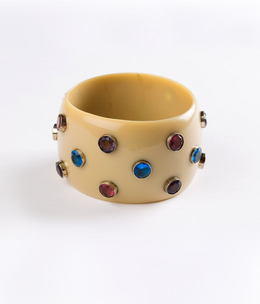 Bangle (Tan with Multi-Colored Hydro Quartz) - Inspired Luxe