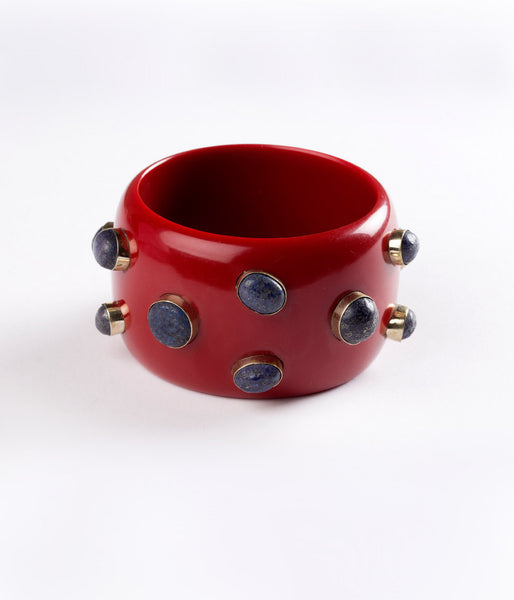 Bangle (Wine with Lapis) - Inspired Luxe