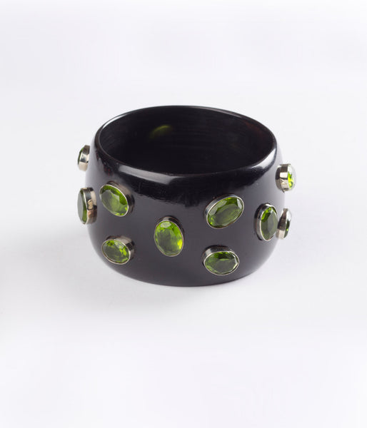 Bangle (Black Raven with Hydro Quartz Green) - Inspired Luxe