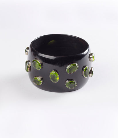 Bangle (Black Raven with Hydro Quartz Green)