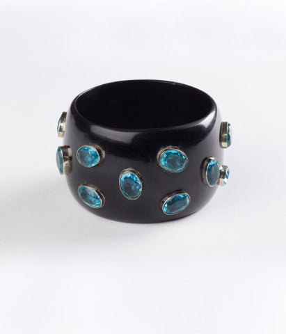 Bangle (Black Raven with Hydro Quartz Blue )
