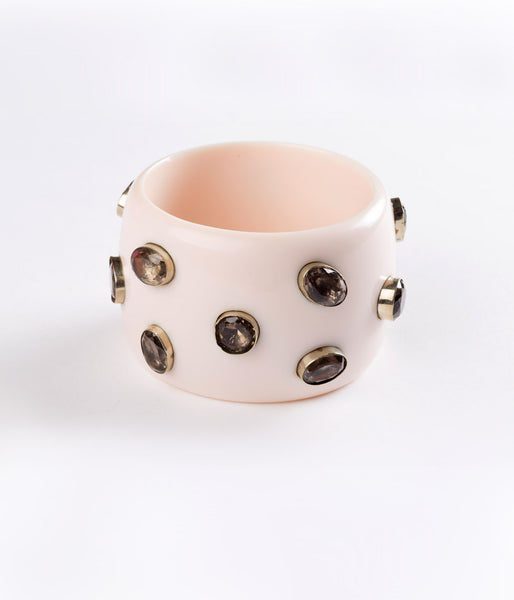 Bangle (Ivory with Smoky Quartz) - Inspired Luxe