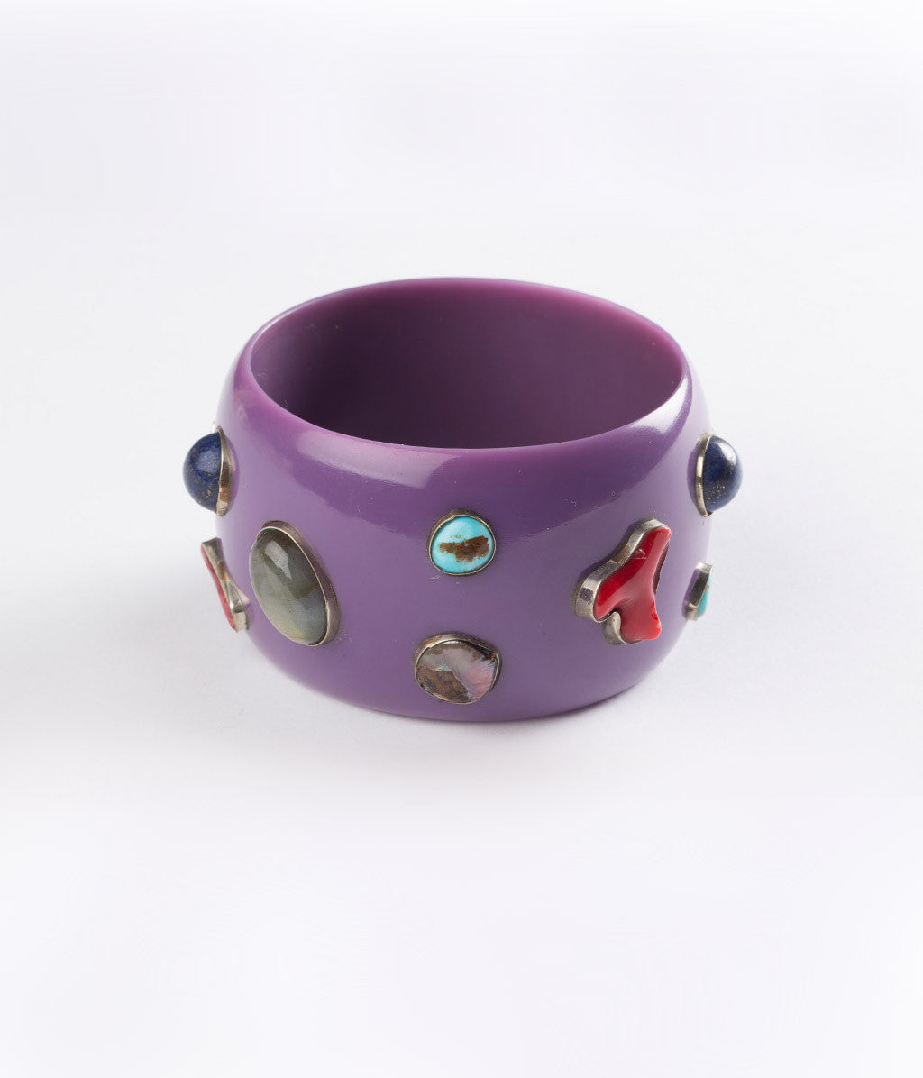 Bangle (Purple Grape with Multiple Gems) - Inspired Luxe