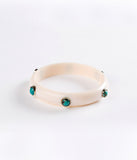 Bangle (Ivory with Turquoise) - Inspired Luxe