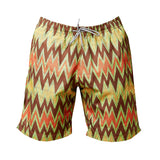 Ali Bolga Zigzag Men's Swim Trunk (pre-order) - Inspired Luxe