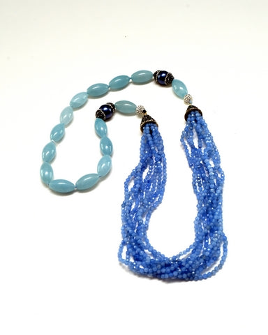 Blue Oval Necklace - Inspired Luxe