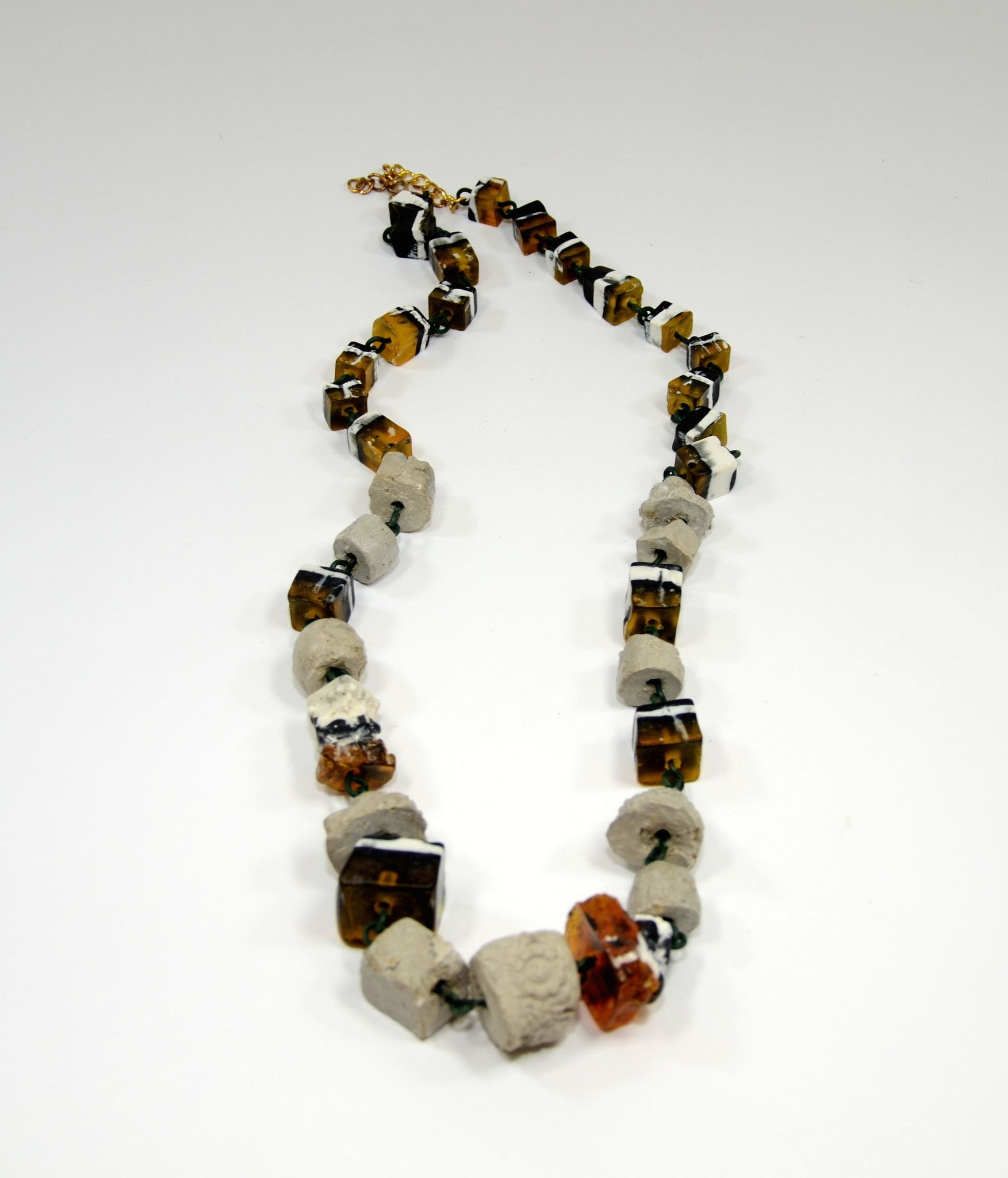 Baroque Concrete Necklace - Inspired Luxe