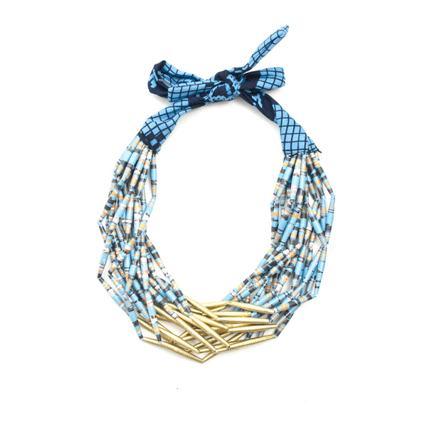 Fabric Necklace - Open Half Gold - Inspired Luxe