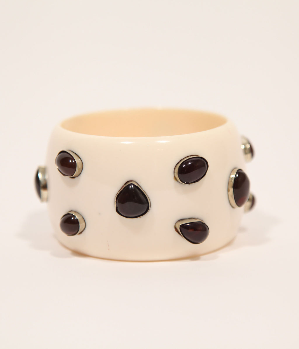 Bangle (Ivory with Onyx) - Inspired Luxe