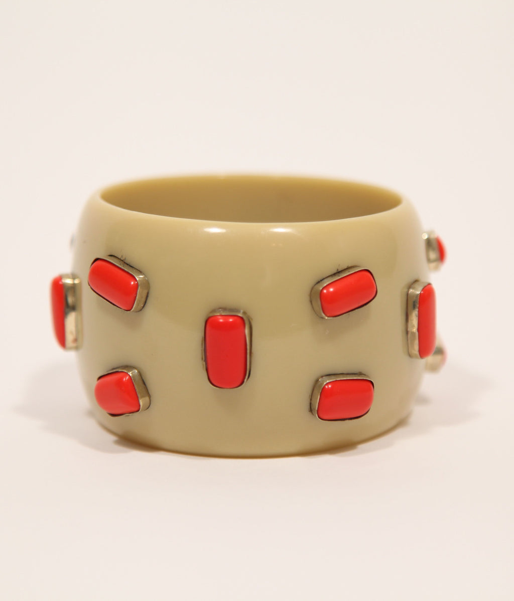 Bangle (Tan Sand with Coral) - Inspired Luxe