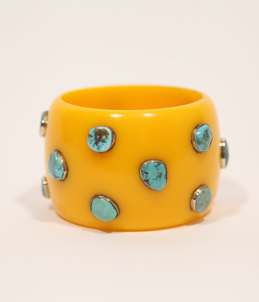 Bangle (Yellow Mustard with Turquoise) - Inspired Luxe