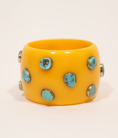 Bangle (Yellow Mustard with Turquoise)