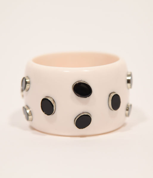 Bangle (Ivory with Black Onyx) - Inspired Luxe