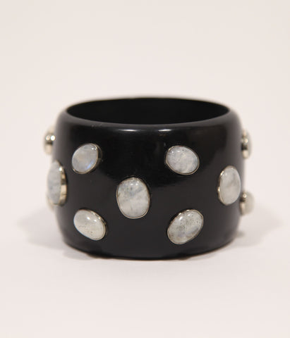 Bangle (Black Raven with Moonstone) - SOLD OUT