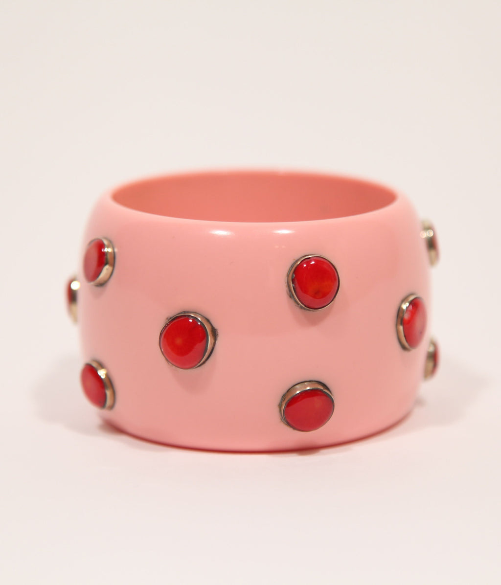 Bangle (Pink Salmon with Coral) - sold - Inspired Luxe