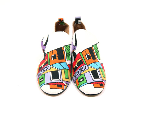 African Print Baroques Smoking Slipper Shoes