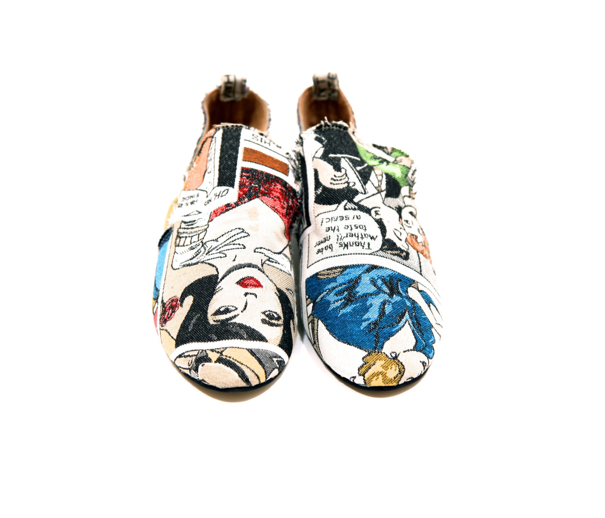 Roy Lichtenstein-inspired Comic High-Cut Baroque Smoking Slippers